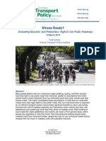Whose Roads? Defining Bicyclists' And Pedestrians' Right To Use Public Roads [VTPI, 2013]