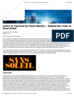 Letter to Theresa by Chris Marker – Behind the Veils of Sans Soleil — Notes from the Era of Imperfect Memory