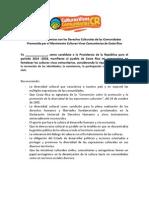 Carta de Compromisos Con Los Derechos Culturales de Las Comunidades