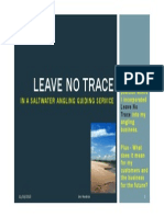 Leave no trace - in guided saltwater fishing