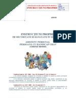 Ip Ssm - Asistent Personal Persoana Cu Handicap Grav