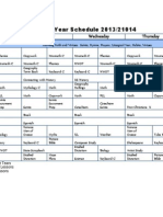 School Year Schedule 2013