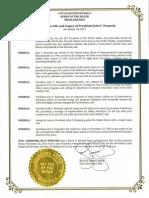JFK Proclamation - Rochester Hills