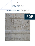Sistema de  Numeración Egipcio