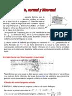 Vector Tangente, Normal y Binormal