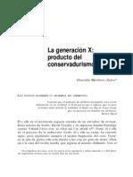 La Generacion X Producto Del Conservadurismo