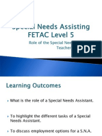 role of the special needs assistant