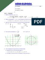 Lista de exercícios resolvidos de matemática com curvas e superfícies