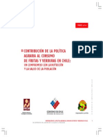 Contribución de la política agraria al consumo de frutas y verduras en Chile. un compromiso con la nutrición y la salud de la población