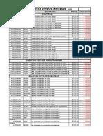 Lista de Precios 2013 Liquidacion