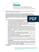 [IPSF PARO] 2nd Call for host to the 8th PARS - Español