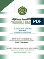 Buku Takhrij Hadis Fadhilah Al-quran