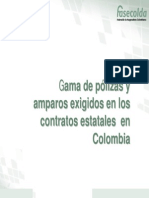 gama de pólizas y amparos exigidos en los contratos estatales  en colombia