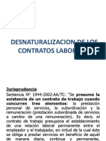 Desnaturalizacion de Contrato