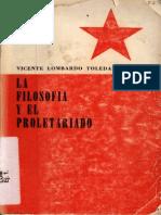 La filosofía y el proletariado