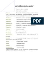 Vocabulario Basico de Logopedia Word 2003