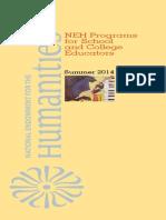 NEH Education Summer Programs 2014