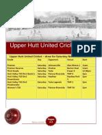 UHUCC Cricket Newsletter for Saturday Nov 23 2013