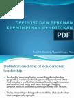 02-Definasi Dan Peranan Kepemimpinan Pendidikan