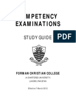 Competency Examination Study Guide March 2012
