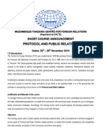 MOZAMBIQUE-TANZANIA CENTRE FOR FOREIGN RELATIONS 