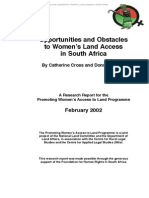 Opportunities and Obstacles to Women's Land Access in South Africa