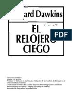 Dawkins Richard - El Relojero Ciego