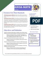 math lesson plan- november 18