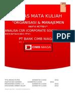 Analisa CSR CIMB NIAGA