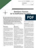 Questions-reponses Sur La Modification Du Salaire