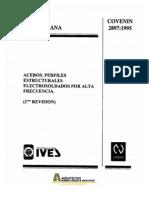 COVENIN 2897-1995 Aceros. Perfiles Estructurales Electrosoldados por alta frecuencia.pdf