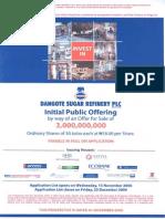 Dangote Sugar Refinery Plc Prospectus