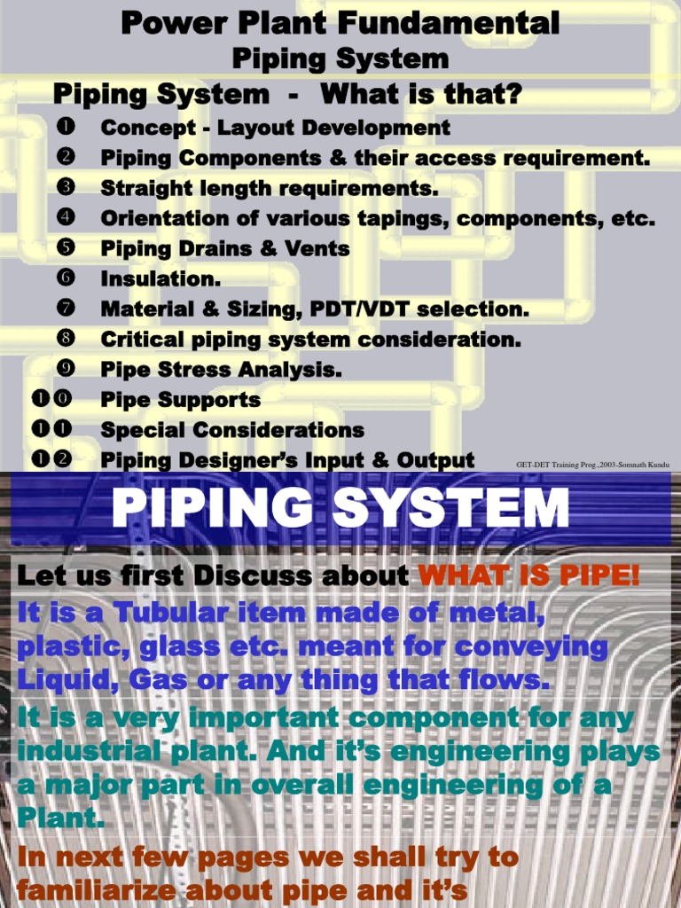 Piping ppt | Thermal Insulation | Pipe (Fluid Conveyance)