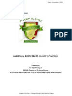 Habesha Breweries Share Company Prospectus