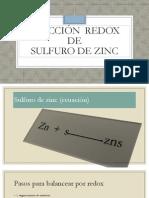 Reaccion Redox de Sulfuro de Zinc