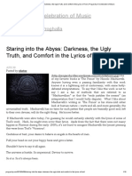 Staring Into the Abyss_ Darkness, The Ugly Truth, And Comfort in the Lyrics of Tool _ Progarchy_ a Celebration of Music