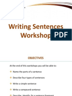 Writing Sentences Workshop