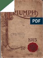 Triumph Motors Cycles of 1915