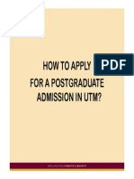 How to Apply to Utm Pg Programme