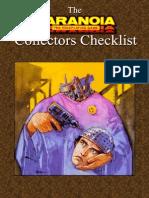 Paranoia - Collectors Checklist 1.0