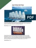 5 Kapal Besar Yang Terbuat Dari Kayu