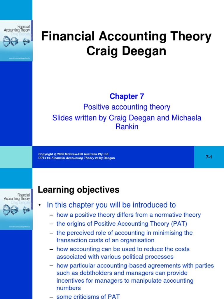 how does positive accounting theory differ from normative accounting theory