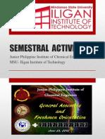 Semestral Activities