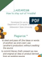 Plagiarism Slides Programming