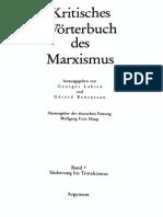 135441526 Labica G Bensussan G Haugh W F Hrsg Kritisches Worterbuch Des Marxismus Band 7 Sauberung Bis Trotzkismus 1 Aufl 1988