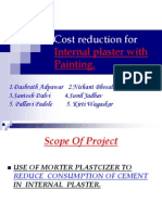 Cost Reduction for Internal Plaster With Painting