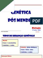 GENÉTICA POS MENDEL  2013