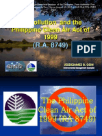 Air Pollution and the Clean Air- PPA Envi. Managment Seminar (Aug. 14, 2013)