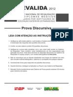 Prova Discursiva Revalida 2012
