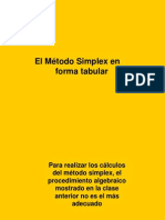 El Método Simplex en